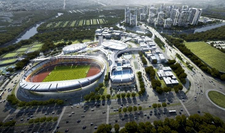 Phối cảnh khu thể thao Saigon Sports City