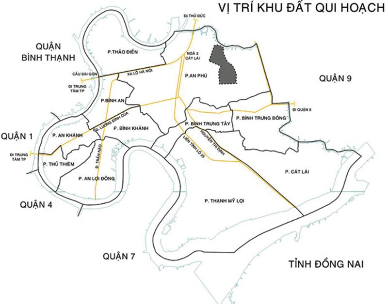 Bản đồ quy hoạch và vị trí dự án Saigon Sports City tại Quận 2