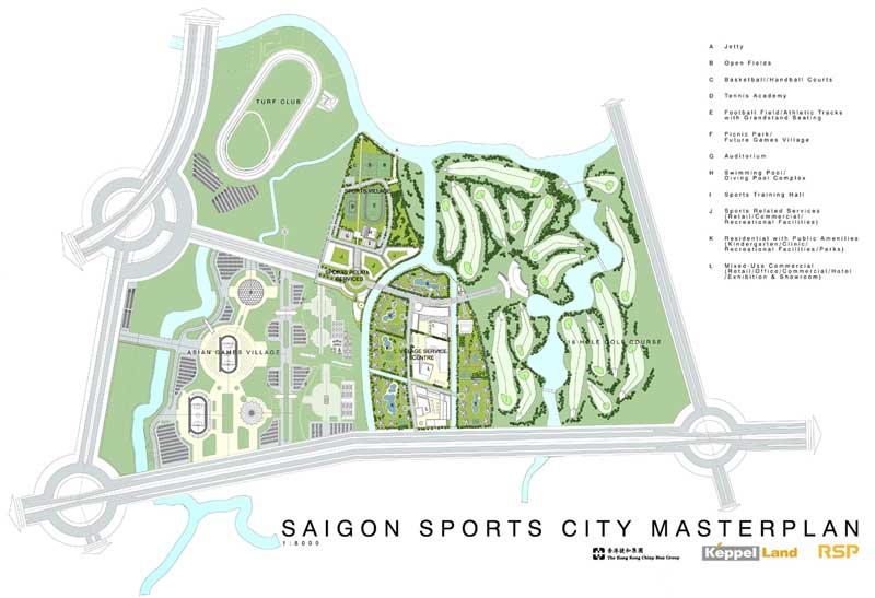Mặt bằng chi tiết dự án Saigon Sports City