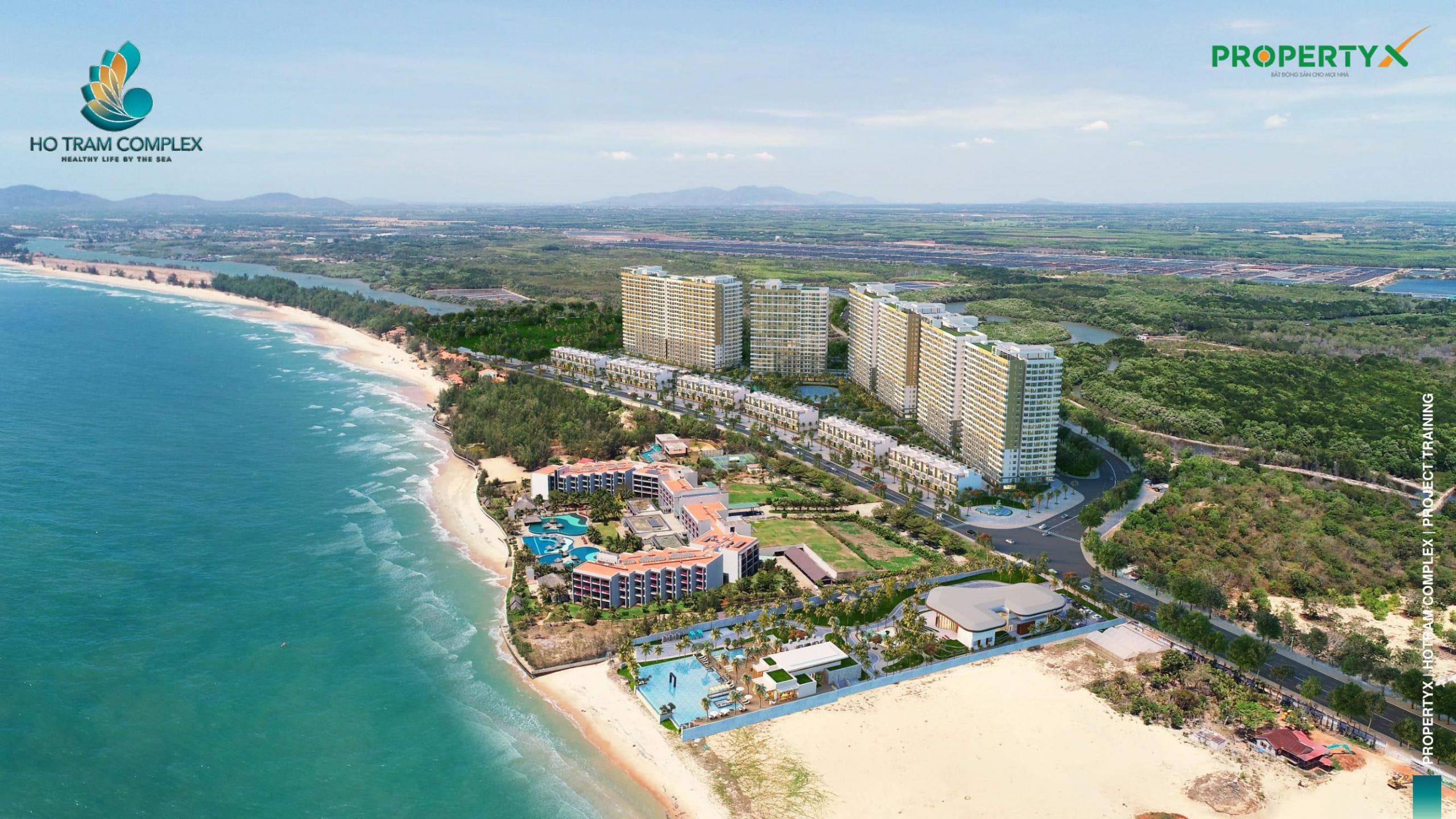 Phối cảnh tổng thể căn hộ Hồ Tràm Complex
