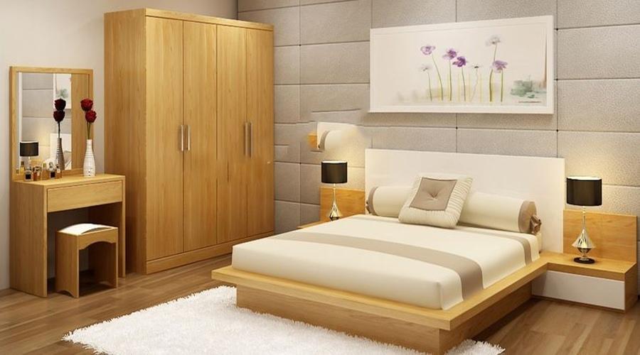 giường được dặt sát tường