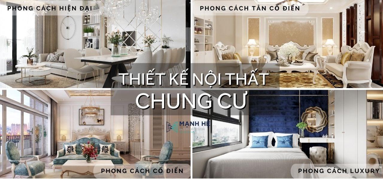 Thiết kế nội thất chung cư đa dạng phong cách